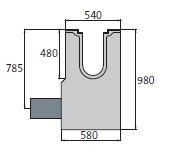 BIRCOsolid Spleetgoten Profiel 200/300 zinkputten In-line outfall unit with pipe support