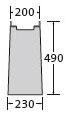 BIRCOsir – kleine Nennweiten nominale breedte 100 zinkputten In-line outfall unit