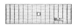 BIRCOlight nominale breedte 100 AS afdekkingen Gitterroste mit Flachrandeinfassung Rutschhemmklasse R11/V10