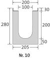 BIRCOprotect nominale breedte 100 afvoergoten Channel elements with 1% inbuilt falls