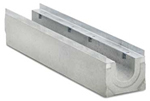 BIRCOprotect nominale breedte 150 afvoergoten Channel elements with 0.5 % inbuilt falls with hot-dipped galvanised solid steel edge angle