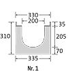 BIRCOprotect nominale breedte 200 afvoergoten Channel elements with 0.5 % inbuilt falls