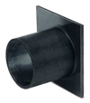 BIRCOprotect nominale breedte 300 toebehoren End cap with outlet made of PEHD for construction height 470. DA 315x18