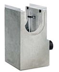 BIRCOprotect nominale breedte 300 zinkputten Shut-off outfall unit for NW 100 to 300. with hot-dip galvanised solid steel angle for combiclosure system