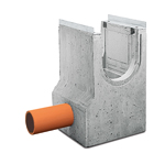 BIRCOprotect nominale breedte 300 zinkputten In-line outfall unit with pipe support