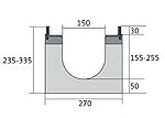 BIRCOdicht nominale breedte 150 afvoergoten Channel elementsl with 0.5 % internal gradient