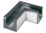 BIRCOdicht nominale breedte 300 afvoergoten Corner piece 90° without internal gradient