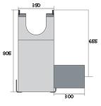 BIRCOdicht nominale breedte 200 zinkputten In-line outfall unit