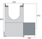 BIRCOdicht nominale breedte 300 zinkputten In-line outfall unit