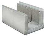 BIRCOcanal nominale breedte 400 afvoergoten Supply channels with angles I cast-in mounting rails