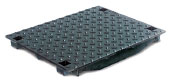 BIRCOcanal nominale breedte 500 afdekkingen Bulb ductile iron covers I for supply channel units with angles