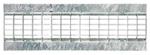 BIRCOtop serie F met zichtbare rand 130 (buitenbreedte) afdekkingen Mesh gratings I clambed grating