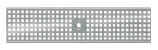 BIRCOtop serie F zonder zichtbare rand 130 (buitenbreedte) Afdekkingen Perforated gratings I square hole