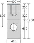 BIRCOsir Puntafwatering zonder nominale breedte zinkputten Outfall unit I 40/40 I 3-piece