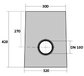 BIRCOplus nominale breedte 100 zinkputten Outfall unit 30/30 I 1-piece