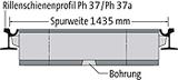 BIRCOsir spoorafwatering nominale breedte 100 afvoergoten Rail profile 57 R 1/67 R 1 (prev. Ph37/Ph37a) I Gauge 1435