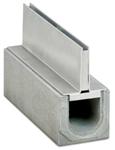 BIRCOspleetopzetstukken nominale breedte 100 Spleetopzetstuk Slotted steel covers I symmetrical I material thickness 4 mm
