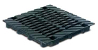 BIRCOdicht puntafwatering zonder nominale breedte afdekkingen Twofold cast grating for point drainage 40/40. black immersion lacquered